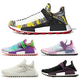 Nuovo Pharrell Williams x Corsa solare pacchetto Originals NMD Hu Trial 3M POW3R umana Uomini Donne Scarpe autentiche delle scarpe da tennis 36 45