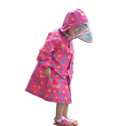 21c60cb4e7b FreeSmily style Raincoat For Children Kids students impermeable waterproof  boys girls child Rain Coat Ponchos Jackets