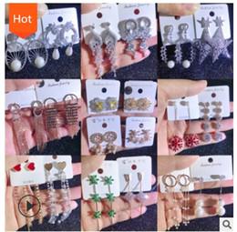 diamant-mode lange ohrringe Rabatt Heißer Verkauf 925 silberne Stiftlange Diamantohrringe, silberne Stiftohrringe, Art- und Weiseschmucksache-Bolzen-Ohrringe