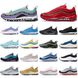 Nike air max 97 off white 2020AirMax97 Shoes qualidade corrida top Homens Mulheres puxar guia SE-de-rosa do leopardo vermelho Mens Trainers Designer Sneakers desportivos com meias de Fornecedores de camo skate
