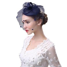 pluma de sombrero de tul Rebajas Black Bird Cage Net boda nupcial  Fascinator sombreros velo de 2310b8d611a