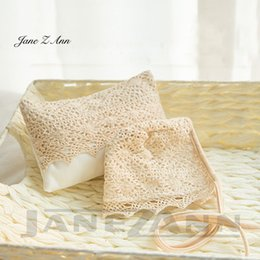 almohada de ganchillo hecha a mano Rebajas Jane Z Ann Baby apoyos para fotos sesión de fotos hecho a mano de encaje de ganchillo sombrero y almohada baby shower regalo calidad estudio ropa