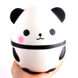 fun science gifts Coupons - Kawaii Squishy 12CM Jumbo Cute Panda Bear Slow Rising Soft Squeeze Straps Crean Scented Bread Cake Decor Toy Kid Fun Gift