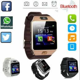 apple windows mobile Sconti orologio intelligente DZ09 per Android Samsung Smart watchs SIM intelligente vigilanza del telefono cellulare in grado di registrare l'orologio intelligente PK Q18 GT08 stato di sonno