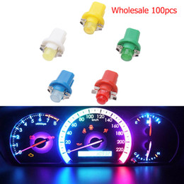 2020 bindestrich hellblaue lampe LYMOYO 100pcs T5 B8.5D Großhandel Auto LED Auto Dashboar d Instrument Cluster Light Panel Spur Dash Warning Bulb Styling günstig bindestrich hellblaue lampe