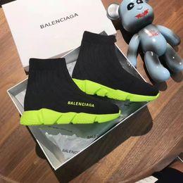 Telas de vestir baratas online-Zapato barato de marca niño niño vestido baloncesto zapatillas Neo verde suela + tela negra resbalón en zapatos niña vestido diseñador bebé niño niña niños pequeños
