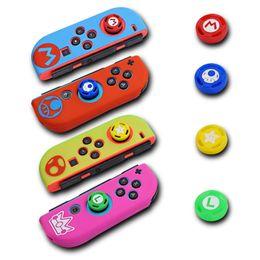 Tapas de control online-Yoteen funda de silicona Joycon cubierta para Nintendo Switch Controller antideslizante protector de piel de goma pulgar agarre Joystick Caps