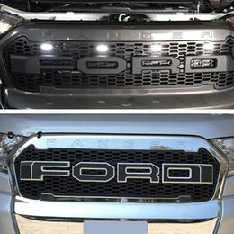2019 voiture de grillade Nouvelle voiture Stlying Grill Pour Ford Ranger 2015-2017 ABS Grill Avant Noir Radiator Grills Pour Ranger Wildtrak T7 voiture de grillade pas cher