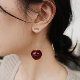 Schöne Erdbeere Ohrringe Neue Persönlichkeit einzigartige Kleine Obst Glasur