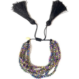 boho chic bijoux Promotion Go2boho Fit MIYUKI Bracelet Femmes Pulseras Mujer 2019 Bohème Bijoux Cristal Bracelets Été Boho Chic Charme Tassel À La Main