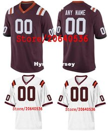 Cheap Custom virginia tech hokies College jersey Mens Women Youth Kids  Personalized Any number of any name Stitched White Football jerseys N 54628993d