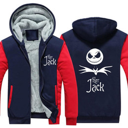 Jack skellington en Ligne-Sweatshirt Cauchemar Avant Noël Sally Jack Skellington Sweat à capuche épaissi Jack et Sally Couple Sweat à capuche chaud
