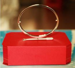 jóias de amor para casais Desconto Titanium aço amor pulseiras de prata rosa pulseiras de ouro mulheres homens parafuso chave de fenda pulseira casal jóias com box set melhor venda