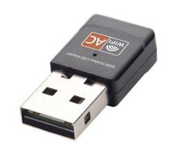 Wireless USB 2.0 Adattatore Wifi AC600 Dual Band 2,4 GHz 5 GHz 802.11a / b / n / g / ac 600 Mbps Antenna WiFi Ricevitore scheda di rete per PC Computer da