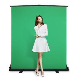 fond de brique blanche Promotion Écran vert panneau chroma key Pliable pour l'enlèvement de fond avec cadre auto-verrouillage, tissu vert chroma infroissable, aluminium