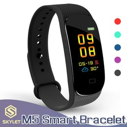 kids smart watch phone Promo Codes - Smart Bracelet M5 Fitness Tracker Smart Watches with Heart Rate Colorful LCD Display For Phone PK Miband 3 for IOS Android Cellphones