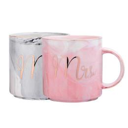 amore caffè tazza Sconti Mr e Mrs Ceramic Marble Tazze da caffè 12 once, Mr Mrs Coffee Tazze con motivi dorati, regali di San Valentino Regali di nozze 0399.