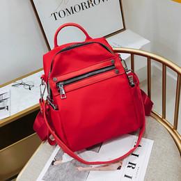 Zaini in tela di canapa online-nuova borsa di modo donne di stile coreano borse del progettista di alta qualità 2019 borse a tracolla per le donne borsa di tote di tela pianura all'ingrosso
