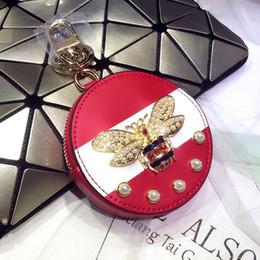 Canada Designer porte-clés 4 couleurs mode chien porte-clés en cuir haute bande dessinée décoration porte-clés mignon luxe porte-clés 2019 nouveau style abeille mignon Offre