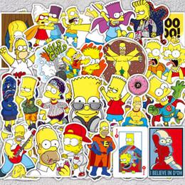 2019 etiqueta branca da motocicleta 50 Pçs / lote Os Simpsons Adesivos Engraçados Anime Etiqueta Dos Desenhos Animados Para Skate Bagagem Laptop Guitarra Frigorífico Da Bicicleta Do Carro Decalque Adesivos