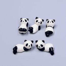 keramiklöffelhalter Rabatt Keramik Panda Essstäbchen Ständer Halter Porzellan-Löffel-Gabel-Messer Rast Rack-Restaurant Tisch Schreibtisch Dekor Freies DHL