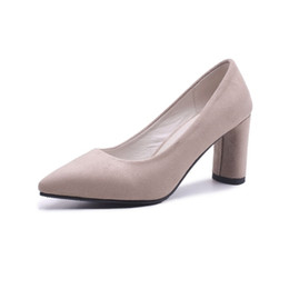 72fe68bacad Hot Sale Womens Ladies Womens Mid Block Heel Office Work Casual Faux Suede  Shoes Size Pumps FS-S1190 US UK EUR Size Customized