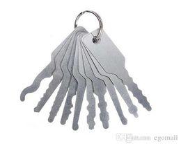 conjunto universal de seleção de bloqueio automático Desconto 10 pcs Jiggler Keys Lock Pick set Para Dupla Face Lock Pick Tools Auto Serralheiro Ferramenta