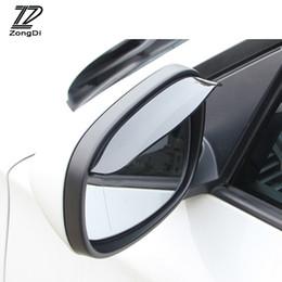 cubierta mazda espejo Rebajas ZD 1Pc Retrovisor del coche Espejo de lluvia Cubierta de lluvia Para VW polo passat b6 Lada granta vesta Renault duster Audi a4 b6 a3 accesorios