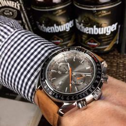 Orologio meccanico più cool online-Eccellente orologio da uomo Sea Cool di alta qualità Master automatico meccanico quadrante marrone chiaro Vetro zaffiro 316 Elegante orologio da uomo con cinturino in vera pelle