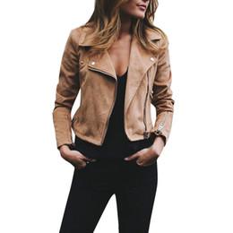 2019 veste tailleur femme Veste Bomber à col tailleur Femmes Printemps Automne Dames Rétro Rivet Zipper Up Bomber Veste Casual Coat Outwear d90525 veste tailleur femme pas cher