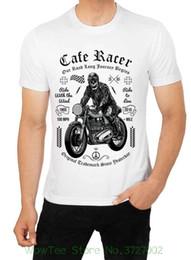camisas feitas sob encomenda do costume da cor completa Desconto Café Racer Nossa Estrada Longa Viagem Começa Personalizada Motociclista Dtg. Camiseta Full Color 2018 New 100% Algodão T-shirts Dos Homens