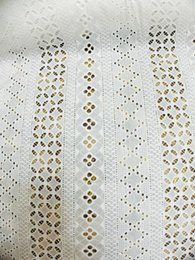 Tecido de renda de algodão puro on-line-(1yard)100% cotton cutie white pure lace border fabric for wedding party lace