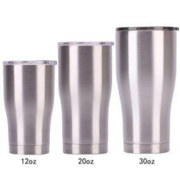 Taza de vaso de acero inoxidable con tapa 30 20 12 oz. Matraz de vacío de doble pared. Taza de cerveza con aislamiento. Café termo VT0225. desde fabricantes