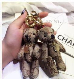 Bolsas de tela online-lujo estilo de Italia corte tela de tela escocesa Eddy oso juguetes de peluche, llavero corbata oso de peluche de juguete, encanto bolsa encanto llavero bolsa encantos