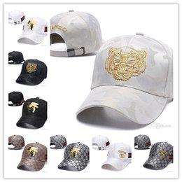 bebé niños snapbacks Rebajas 2019 Diseñador Hombres Gorras de béisbol Nueva marca Sombreros de cabeza de tigre Hueso bordado de oro Hombres Mujeres casquette Sombrero para el sol Gorras Gorra deportiva Envío gratis