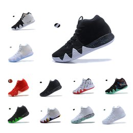 fascino di foglia di acero all'ingrosso Sconti NIKE Kyrie Irving Basketball Shoes 4 4s NBA All-Star Celtics Cleveland Cavaliers Uncle Drew Black Warrior Maple Leaf Joint Style Black and White NCAA