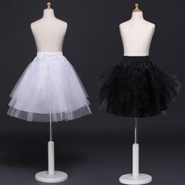 05b007d9f6d Venda quente meninas tutu saia anáguas saia princesa cosplay crianças tule  crinolina barato branco preto crianças pettiskirt para vestido curto
