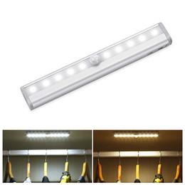 Tubo LED sotto la luce dell'armadio Lampada con sensore di movimento PIR 6/10 LED Illuminazione 98 / 190mm per armadio Armadio Armadio Lampada da cucina da ornamenti di natale di natale di legno fornitori