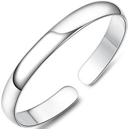 Glitzy Boraizy S999 Sterling Thai Silver pulido brillante pulseras brazaletes para mujer mujer chica joyería fina fiesta de regalos desde fabricantes
