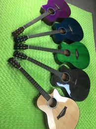 Chitarra singolo-singolo lucida del fiore della pesca dello spruce da 41 pollici, una varietà di chitarra acustica dell'impugnatura di sfregatura che spedice liberamente da