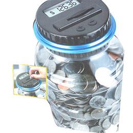 2019 tapete de borracha de silicone Novo Criativo Caixa de Dinheiro Digital Eletrônico USD Moeda Contador Mealheiro Poupança de Dinheiro Frasco de Presente Com Tela de LCD Frete Grátis
