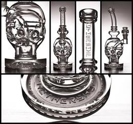 2019 bong ancho Huevo fabuloso Barco de la madre Bongs de vidrio Tubos de agua Aparejos de bolas Tubos de toros Recicladores de Klein Aparejos de aceite Cachimbas de 2 funciones Burbuja embriagadora con tazones