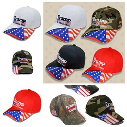Snapback hats camo on-line-hot 2020 Trump hat Camo Trump hat Keep Make America Great Cap Unisex Casual Trump Snapback Cap Baseball hat Party Hats T2C5050