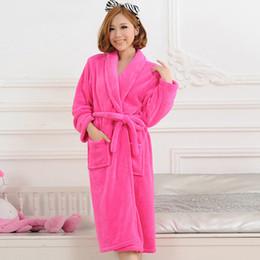 75f93bd2f6 men robes bathrobe 2016 Autumn Winter Bathrobes For Women Men Lady s Long  Sleeve Flannel Robe Female Male Sleepwear Lounges Homewear pyjamas