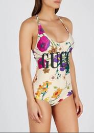 Costumi da bagno di marca di moda all'ingrosso-Costumi da bagno con lettere Costumi da bagno da donna sexy da spiaggia Costume da bagno intero per donna S-XL Disponibile da