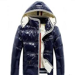 Giacche lucide online-2019 Inverno Uomo Outdoor Maya Shiny Matte Down Jacket Mens Casual Hooded Down Coats Capispalla Giacche calde da uomo Parkas S-3XL