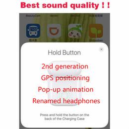 2ª geração pop-up animado fone de ouvido Bluetooth com sensor de luz inteligente, carregamento GPS sem fio e renomeado Bluetooth fone de ouvido fone de ouvido de