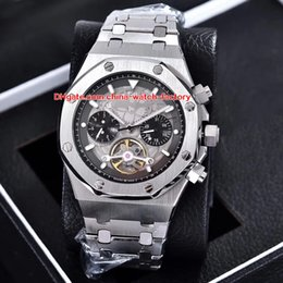 2020 mécanique montre tourbillon automatique 4 Color Luxury High Quality Watch 44mm Offshore Tourbillon Stainless Steel Wristwatches Asia Transparent Mechanical Automatic Mens Watches promotion mécanique montre tourbillon automatique