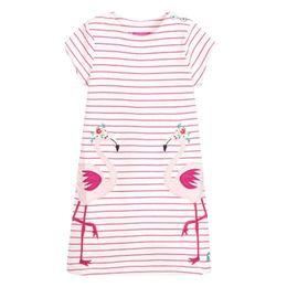 Unicon Girls Dresses Pink Swan Cartton Filles Robes enfants vêtements de créateurs 100% Coton Qualité Rayé Cartton Bébé Filles Robes En Gros ? partir de fabricateur