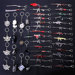 Brinquedos de metal on-line-Série PUBG Liga de Metal Design de Metal Keychian 120 Kar98k SKS M24 UMP9 SCAR-L M416 AKM M16A4 AWM Gun Modelo Toy Game Chaveiro